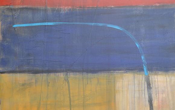 Abstrakt rot blau gelb weiß