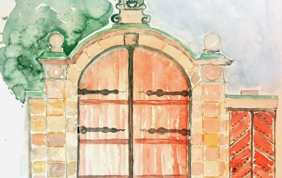 Eingangstor zum Roten Schloss
